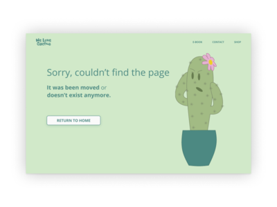 Daily UI | Challenge #8 | 404 Page