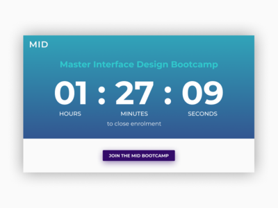 Daily UI | Challenge #14 | Countdown Timer
