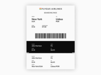 Daily UI | Challenge #24 | Boarding Pass