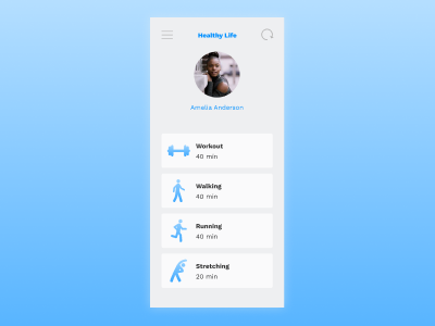 Daily UI | Challenge #41 | Workout Tracker