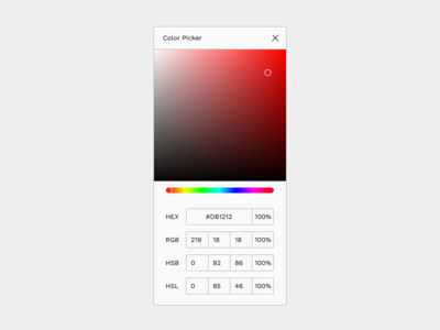 Daily UI | Challenge #60 | Color Picker