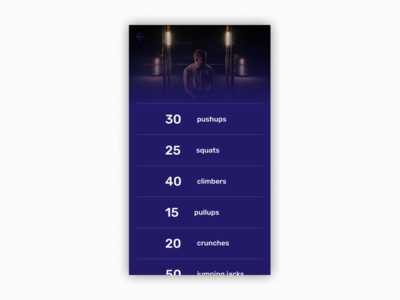Daily UI | Challenge #62 | Workout Of The Day