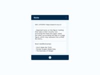 Daily UI | Challenge #65 | Notes Widget