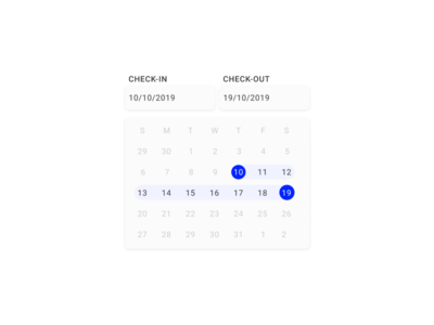 Daily UI | Challenge #80 | Date Picker