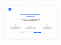 Daily UI | Challenge #100 | Redesign Daily UI Landing Page