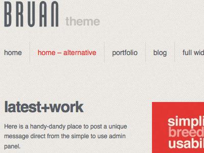 Bruan 1 braun bruan themeforest theme wordpress clean