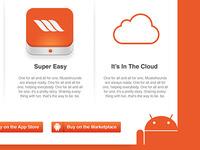 Nice app landing page