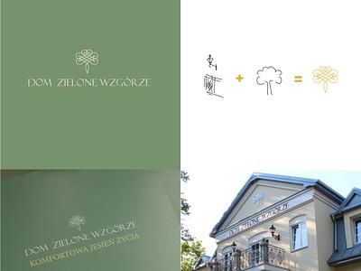 Dom Zielone Wzgórze - logo design pension vector design logo
