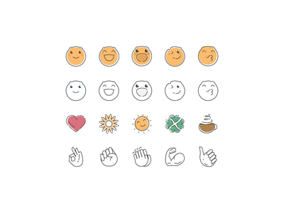 emoji icons stroke icons emoji set iconset icons vector design emoji