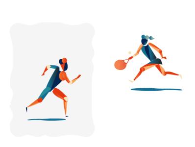 Let's play running rocket web illustration design vector people sport