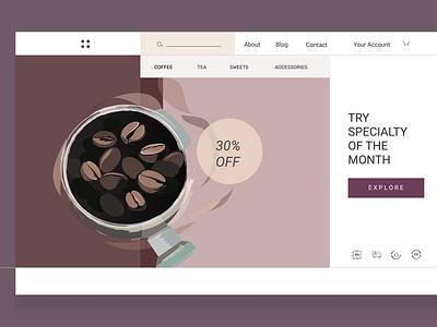 coffee shop - web design colors web illustration illustration icons coffee design vector