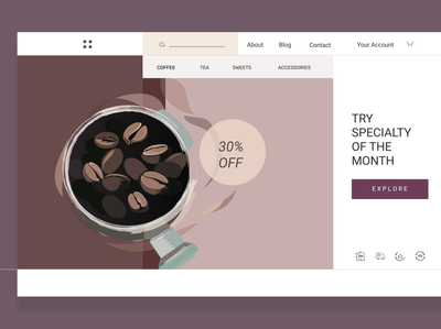 coffee shop - web design