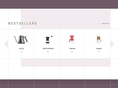 coffee makers - web design concept webdesign illustration coffee web illustration design accessories