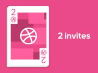 2 Dribbble invites.