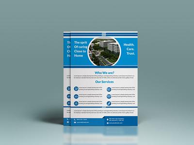 HOSPITAL BUSINESS FLYER typography vector design templatedesign flyer illustration corporate branding business proposal graphicsdesign branding