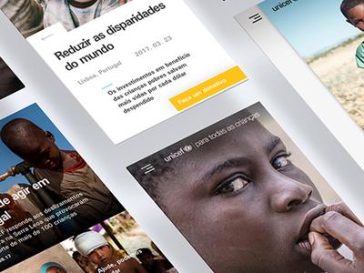 Unicef mobile site