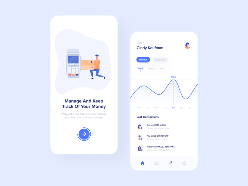 Finance App ios blue finance app interaction design interface design user experience user interface ux ui clean minimal ecommerce uxdesign uidesign iphone screen mobile application app design app