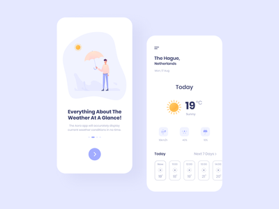 Weather App weather app purple interaction design interface design user experience user interface ux ui ios clean minimal ecommerce uxdesign uidesign iphone screen mobile application app design app