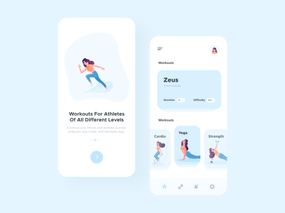 Fitness App fitness app blue interaction design interface design user experience user interface ux ui ios clean minimal ecommerce uxdesign uidesign iphone screen mobile application app design app