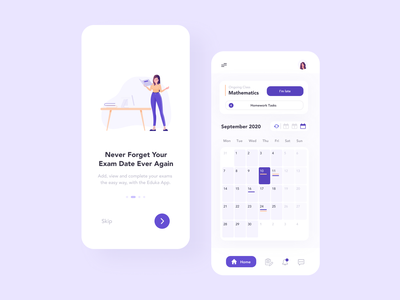 School Management App school app purple interaction design interface design user experience user interface ux ui ios clean minimal ecommerce uxdesign uidesign iphone screen mobile application app design app