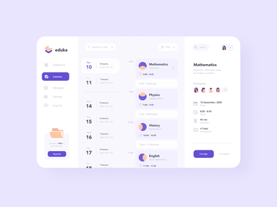 School Management Website school website purple interaction design interface design user experience user interface ux ui ios clean minimal ecommerce uxdesign uidesign iphone screen mobile application app design app