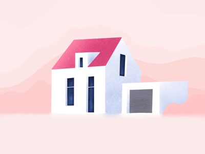 Real Estate Illustration illustration pink interaction design interface design user experience user interface ux ui ios clean minimal ecommerce uxdesign uidesign iphone screen mobile application app design app