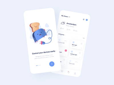 Smart Home App smart home app blue interaction design interface design user experience user interface ux ui ios clean minimal ecommerce uxdesign uidesign iphone screen mobile application app design app