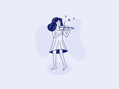 Violin Learning Illustration illustration purple interaction design interface design user experience user interface ux ui ios clean minimal ecommerce uxdesign uidesign iphone screen mobile application app design app