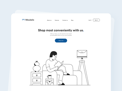 Furniture Website furniture website blue interaction design interface design user experience user interface ux ui ios clean minimal ecommerce uxdesign uidesign iphone screen mobile application app design app