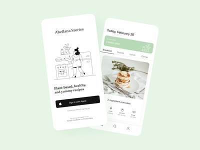 Vegan Recipes App vegan recipes app green interaction design interface design user experience user interface ux ui ios clean minimal ecommerce uxdesign uidesign iphone screen mobile application app design app