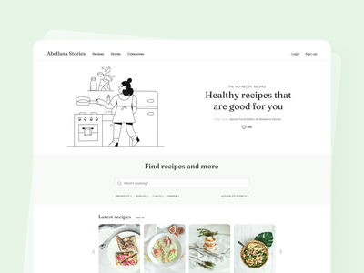 Vegan Recipes Website vegan recipes website green interaction design interface design user experience user interface ux ui ios clean minimal ecommerce uxdesign uidesign iphone screen mobile application app design app