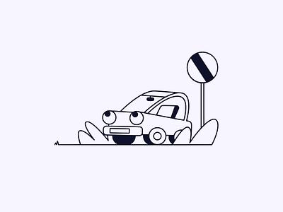 Otto | Illustration website design vector art purple minimal graphic design cartoon car art vector illustration vector procreate procreate art inking illustration