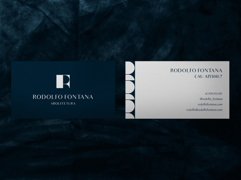 RODOLFO FONTANA ARQUITETURA logo graphic designer graphic design branding design branding and identity design stationery branding brand identity brand