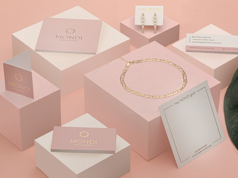 Mondi Luxury Accessories jewelry fashion stationery brand identity brand art direction photography branding logo design