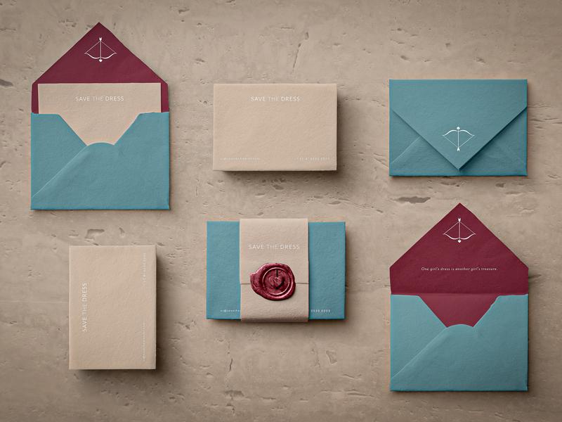 Save The Dress bridal graphic designer graphic design stationery design branding brand identity brand art direction