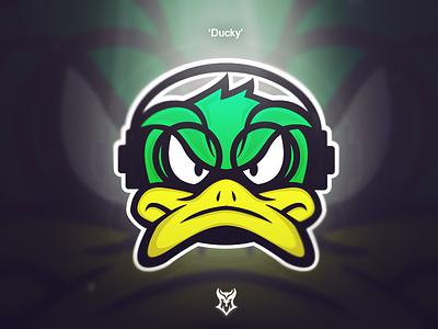 Ducky design logo illustration