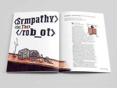 Sympathy Robot Illustration humor editorial illustration