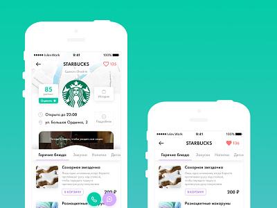 Food delivery service app minimal flat ux ui delivery app food app design