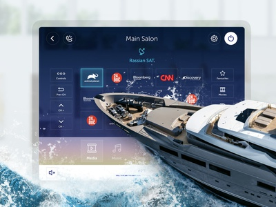 LANA Yacht Smart Home Interface tablet app tablet app design radio climate music app ux ui yacht smart home smarthome design