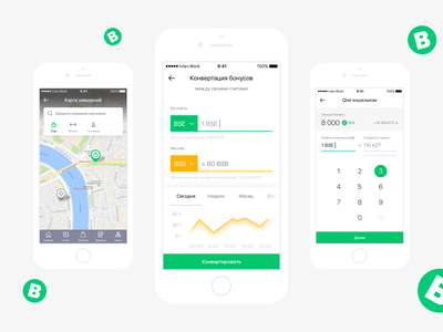 BitSpace app map crypto crypto currency crypto wallet minimal flat app ux ui design