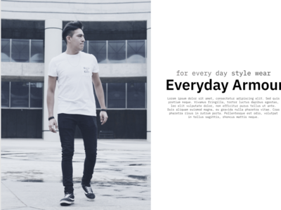 Everyday Armour - Streetwear Landing Page