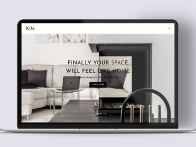 KIN Interiors Modern Website Design