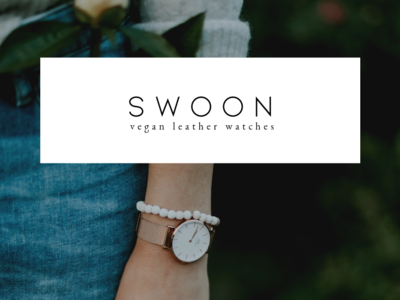 Swoon  Vegan Leather Watches Brand + Logo Concept