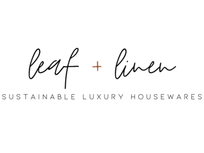 leaf + linen sustainable luxury housewares brand concept