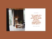 Space | Website Testimonials Design