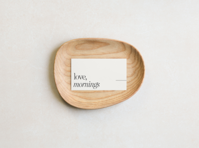 Love, Mornings Logo + Business Card
