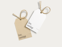 Love, Mornings shopping tags