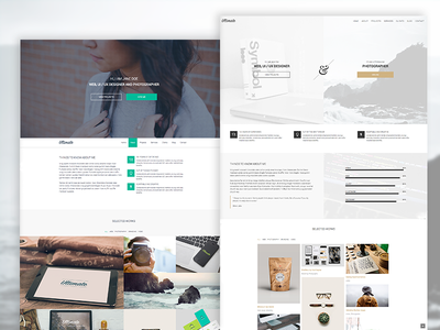 Ultimate | One Page HTML5 Portfolio Template big images masonry portfolio full width one pager template portfolio