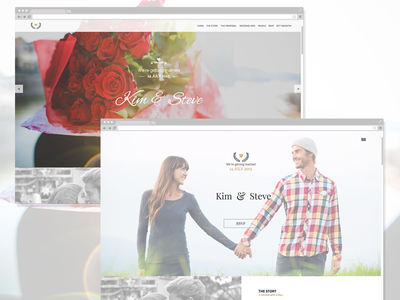 Amorous - Wedding Muse Template one pager wedding template adobe muse