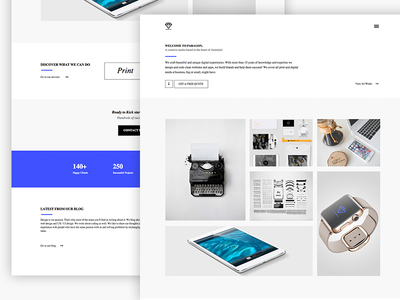 Paragon | Creative Adobe Muse Template website template portfolio adobemuse white minimal clean themeforest